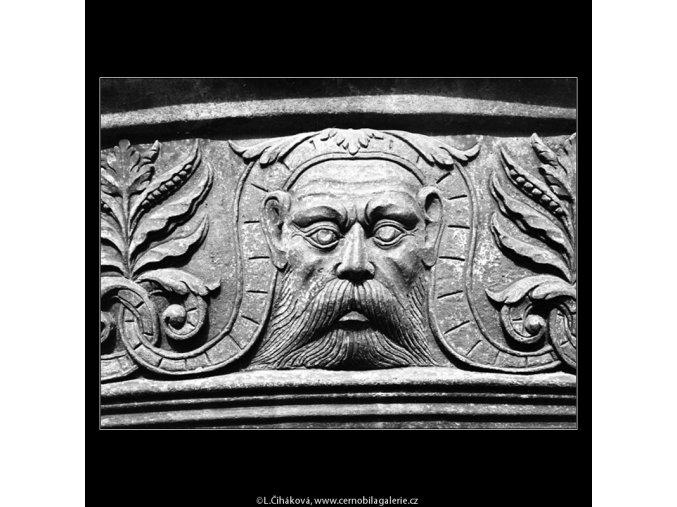 Fontána v královské zahradě (948-2), Praha 1960 říjen, černobílý obraz, stará fotografie, prodej