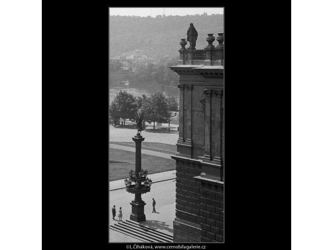 Část náměstí u Domu umělců (861-1), Praha 1960 srpen, černobílý obraz, stará fotografie, prodej