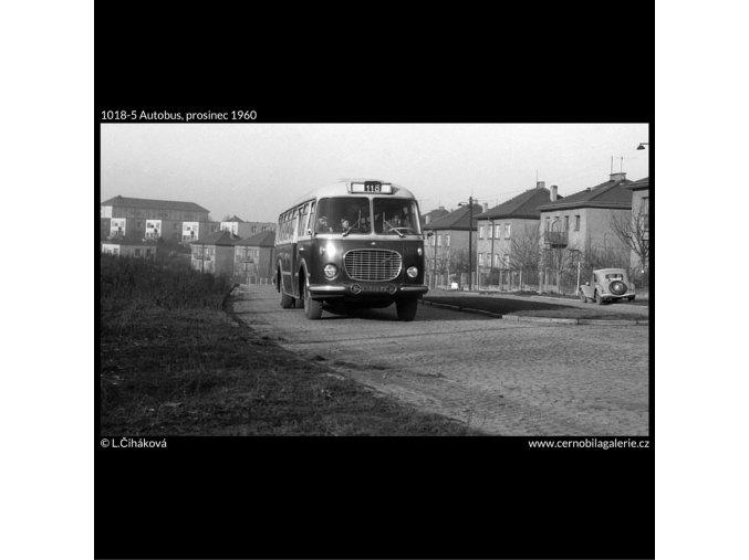 Autobus (1018-5), žánry - Praha 1960 prosinec, černobílý obraz, stará fotografie, prodej