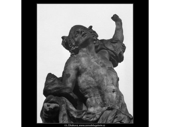 Detail plastiky řecké bohyně (1027), Praha 1960 listopad, černobílý obraz, stará fotografie, prodej