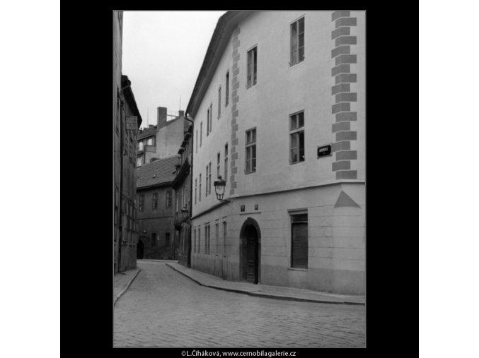 Anenská ulice (1065-1), Praha 1960 prosinec, černobílý obraz, stará fotografie, prodej