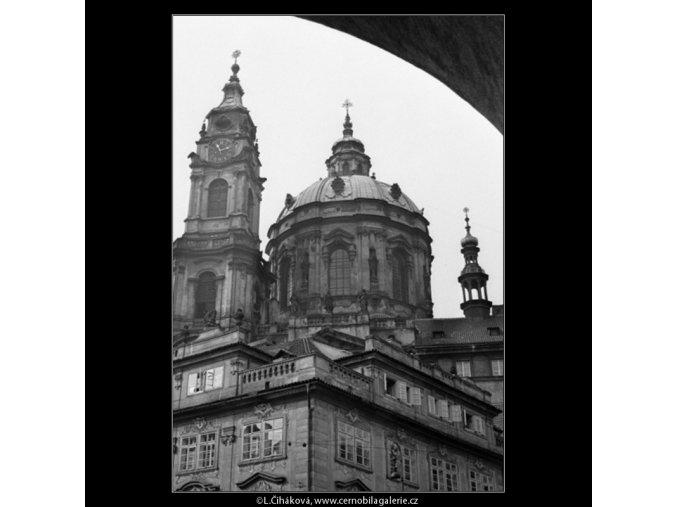 Mikulášský chrám (1283), Praha 1961 září, černobílý obraz, stará fotografie, prodej