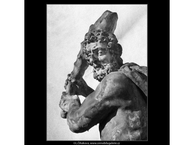 Socha Herkula (1298-2), Praha 1961 , černobílý obraz, stará fotografie, prodej