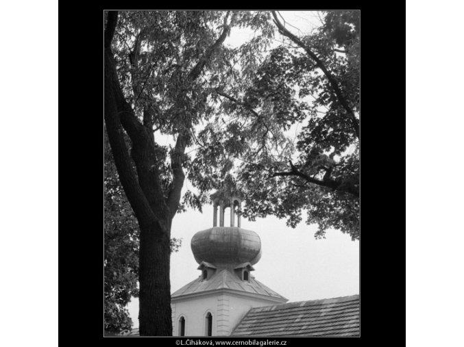 Pohled přes zídku (1245-7), Praha 1962 , černobílý obraz, stará fotografie, prodej