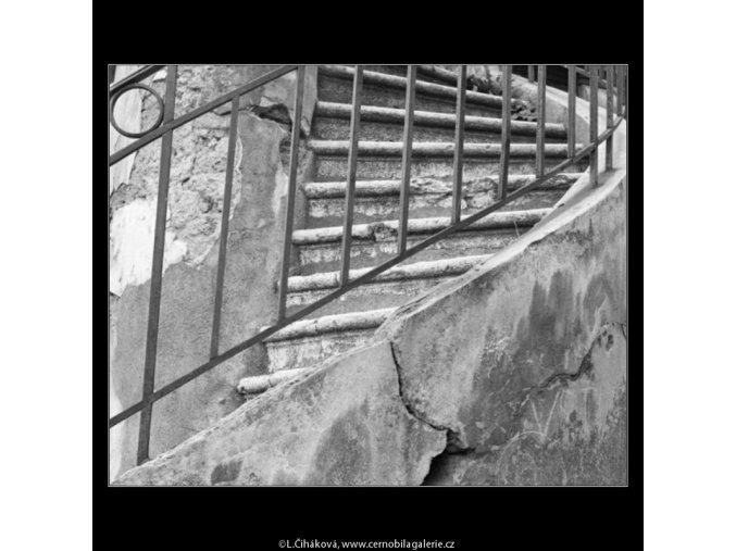 Schodiště k čínskému altánku (1245-8), Praha 1962 , černobílý obraz, stará fotografie, prodej