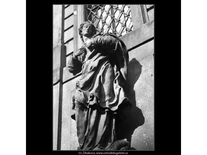 Socha Panny Marie (1313-1), Praha 1961 , černobílý obraz, stará fotografie, prodej