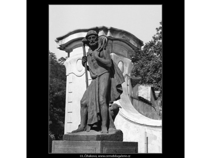 Plastika z Rajské zahrady (1319), Praha 1961 , černobílý obraz, stará fotografie, prodej