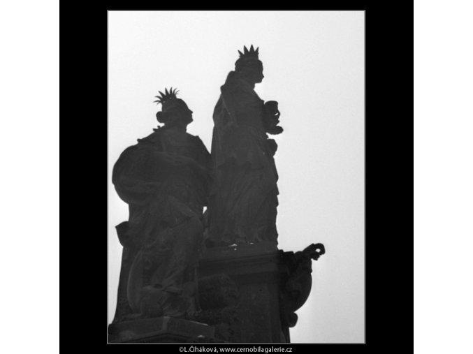 Kontury sousoší (1488), Praha 1962 březen, černobílý obraz, stará fotografie, prodej