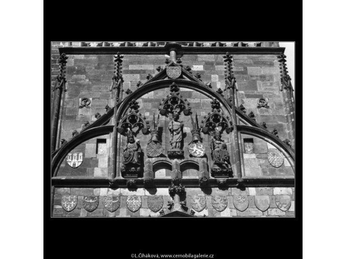 Mostecká věž (1611-2), Praha 1962 květen, černobílý obraz, stará fotografie, prodej
