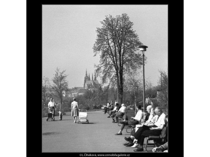 Neděle v sadech (1561), žánry - Praha 1962 duben, černobílý obraz, stará fotografie, prodej