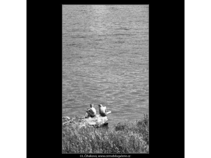 U vody (1672), žánry - Praha 1962 červenec, černobílý obraz, stará fotografie, prodej