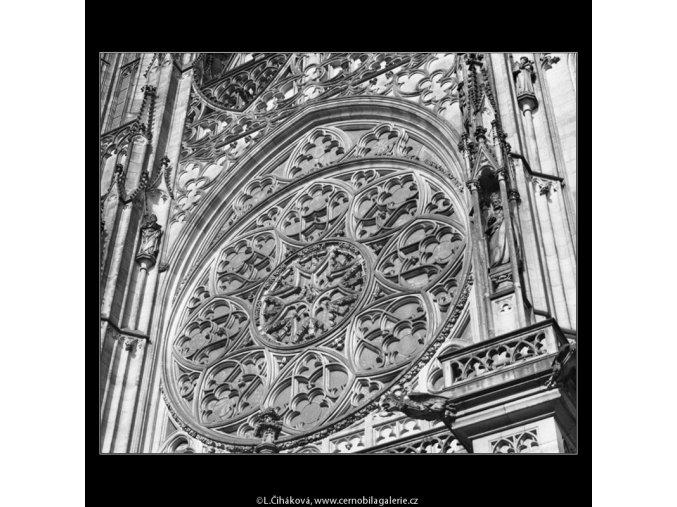 Růžice katedrály sv.Víta (2087-2), Praha 1963 duben, černobílý obraz, stará fotografie, prodej