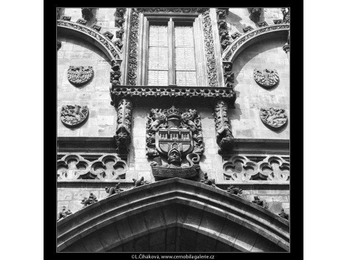 Prašná brána výzdoba (2123-1), Praha 1963 , černobílý obraz, stará fotografie, prodej