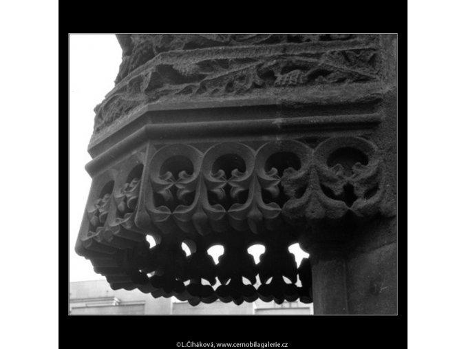 Prašná brána výzdoba (2123-12), Praha 1963 , černobílý obraz, stará fotografie, prodej