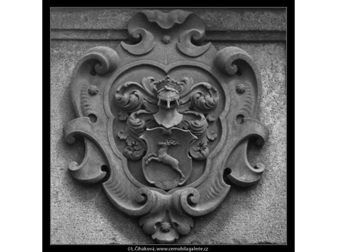 Znak na podstavci (2175), Praha 1963 květen, černobílý obraz, stará fotografie, prodej