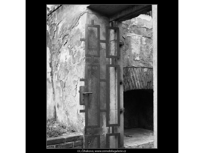 Mříže ze zahrad (2179-8), Praha 1963 květen, černobílý obraz, stará fotografie, prodej