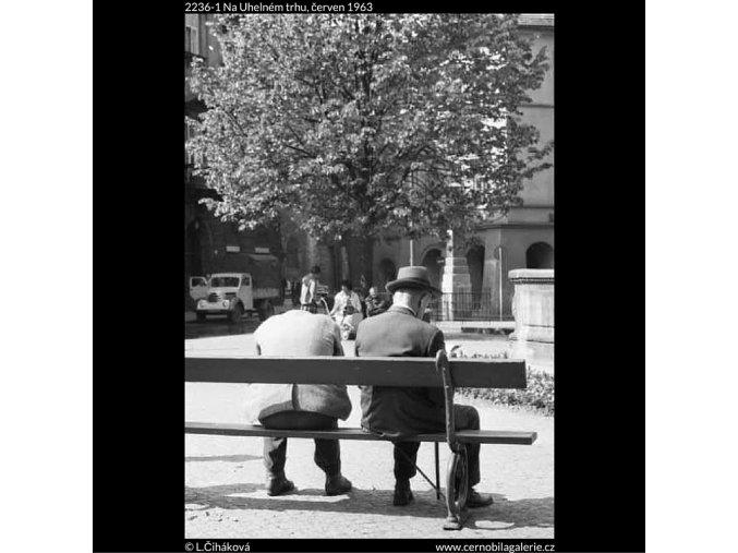 Na Uhelném trhu (2236-1), žánry - Praha 1963 červen, černobílý obraz, stará fotografie, prodej