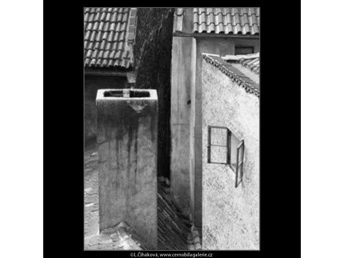 Hradní rampy (2286), žánry - Praha 1963 červen, černobílý obraz, stará fotografie, prodej