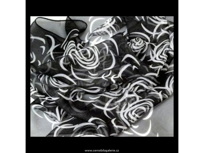 Šátek rose černý