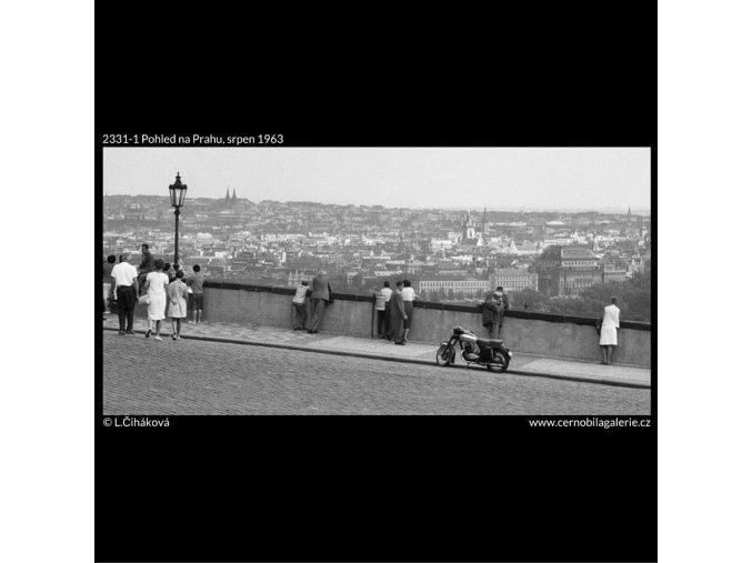 Pohled na Prahu (2331-1), Praha 1963 srpen, černobílý obraz, stará fotografie, prodej