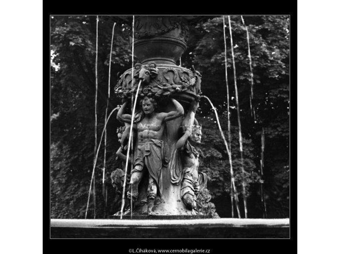 Zpívající fontána (2353-3), Praha 1963 červenec, černobílý obraz, stará fotografie, prodej