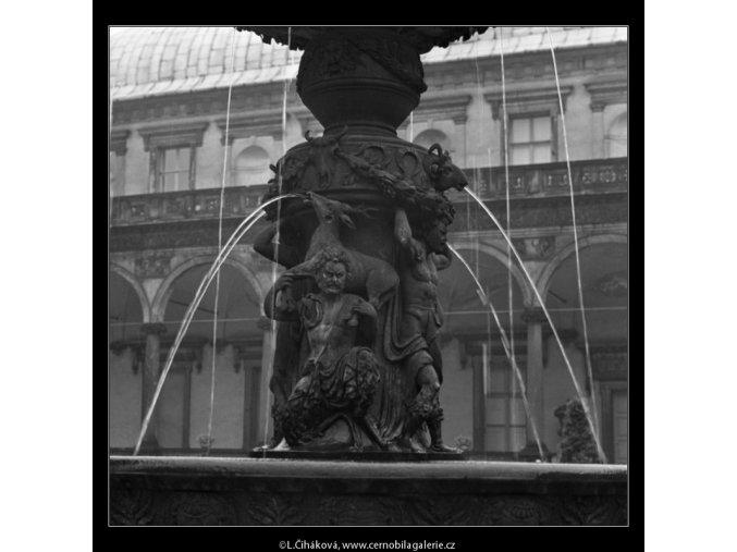 Zpívající fontána (2353-4), Praha 1963 červenec, černobílý obraz, stará fotografie, prodej