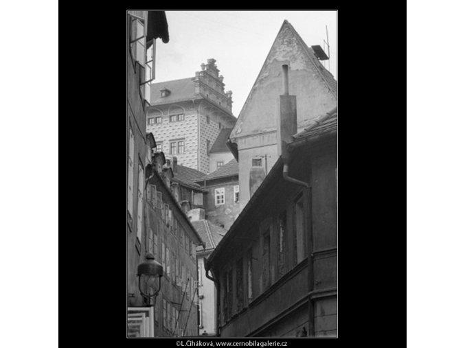Pohled na střechy (2485), Praha 1963 září, černobílý obraz, stará fotografie, prodej