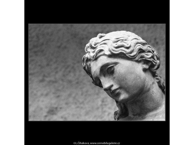 Hlava sochy Vltavy (2618), Praha 1963 prosinec, černobílý obraz, stará fotografie, prodej