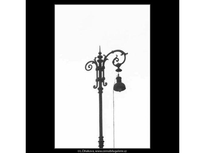 Plynová lampa (2729), žánry - Praha 1964 únor, černobílý obraz, stará fotografie, prodej