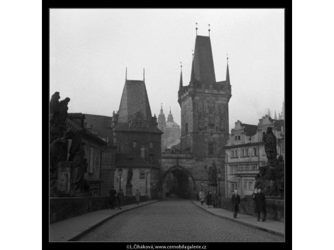 Malostranská mostecká věž (41-3), Praha 1958 , černobílý obraz, stará fotografie, prodej