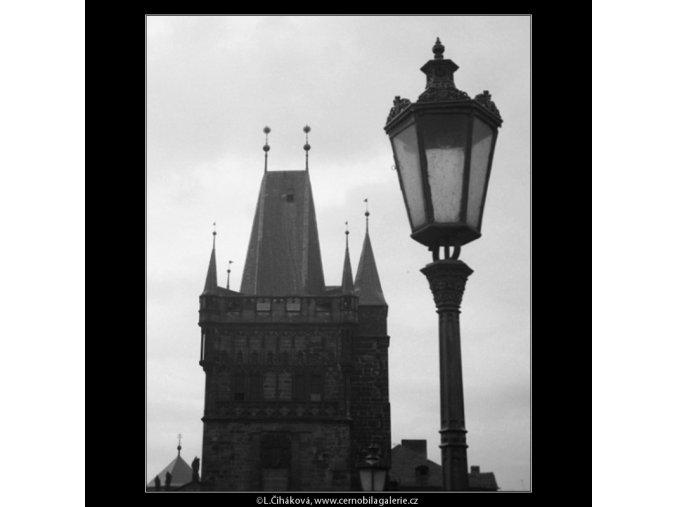 Lucerna a Novoměstská brána (2833-1), Praha 1964 duben, černobílý obraz, stará fotografie, prodej