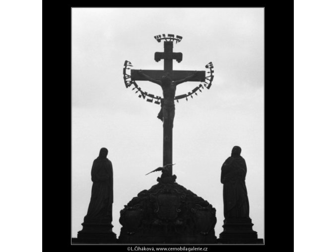 Sousoší (2833-3), Praha 1964 duben, černobílý obraz, stará fotografie, prodej