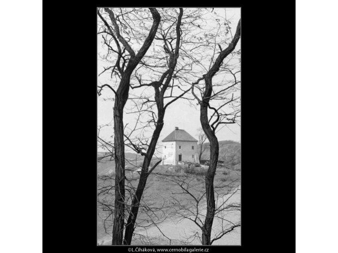 Domek na návrší (2901-2), Praha 1964 květen, černobílý obraz, stará fotografie, prodej