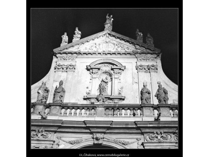 Část průčelí sv.Salvátora (2912-1), Praha 1964 květen, černobílý obraz, stará fotografie, prodej