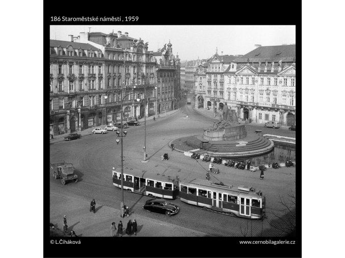 Staroměstské náměstí (186), Praha 1959 , černobílý obraz, stará fotografie, prodej