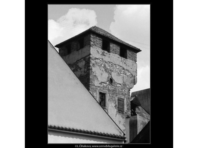 Zbytky hradební věže (2981), Praha 1964 červen, černobílý obraz, stará fotografie, prodej