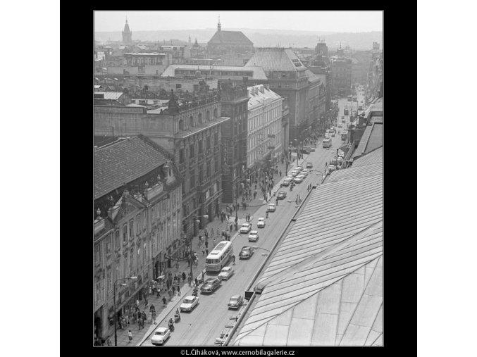Na Příkopech (2986-3), Praha 1964 červen, černobílý obraz, stará fotografie, prodej