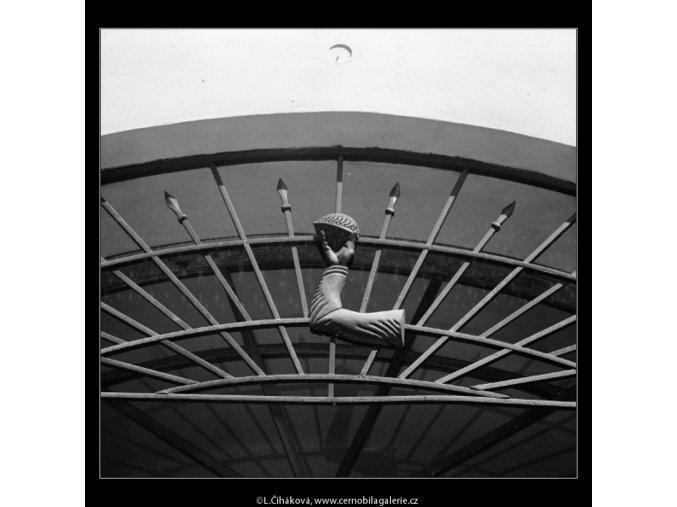 Domovní znamení (3056), Praha 1964 červenec, černobílý obraz, stará fotografie, prodej