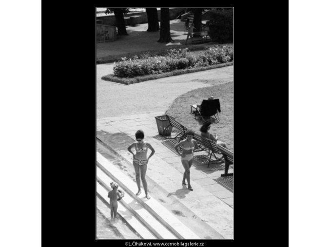 Plovárna (3065-3), Praha 1964 červenec, černobílý obraz, stará fotografie, prodej
