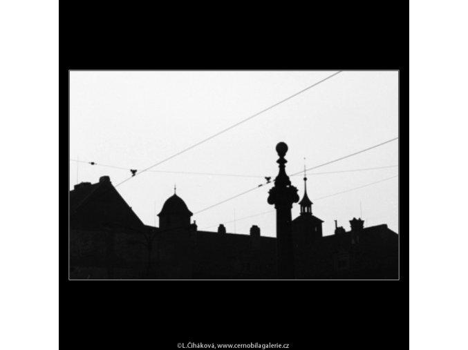 Kontury střech (3095), Praha 1964 srpen, černobílý obraz, stará fotografie, prodej