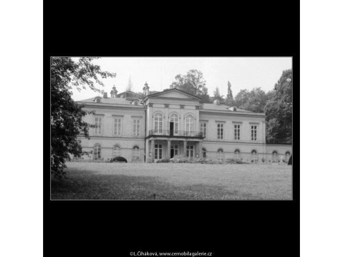 Letohrádek Kinských (3115-2), Praha 1964 srpen, černobílý obraz, stará fotografie, prodej