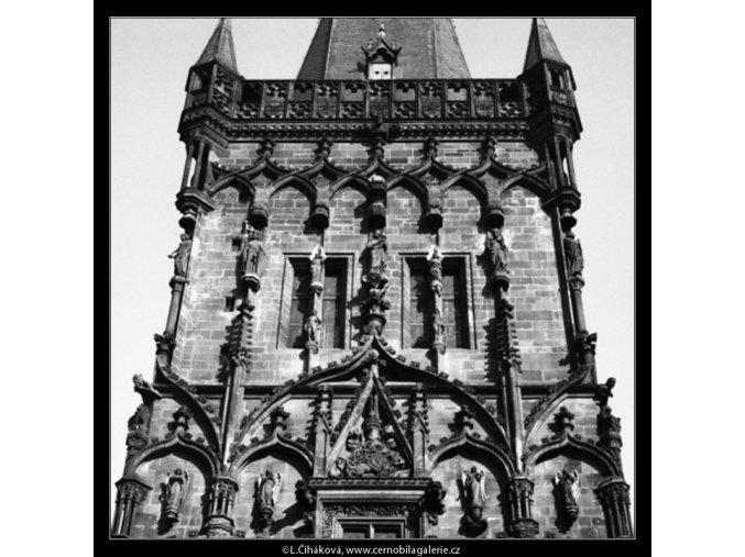 Výzdoba Prašné brány (3161-2), Praha 1964 srpen, černobílý obraz, stará fotografie, prodej