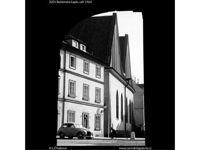 Betlémská kaple (3201), Praha 1964 září, černobílý obraz, stará fotografie, prodej