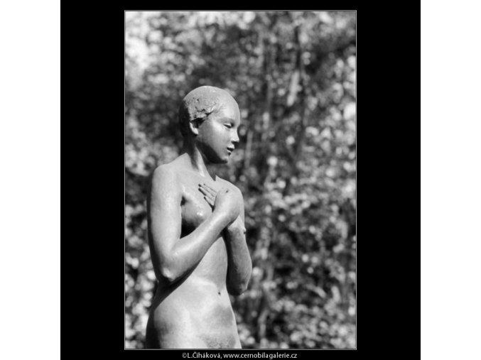 Dívka (3209), Praha 1964 září, černobílý obraz, stará fotografie, prodej