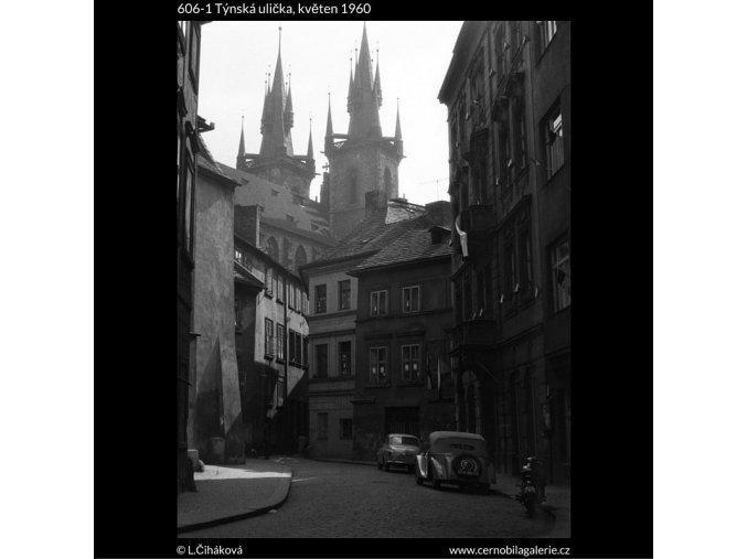Týnská ulice (606-1), Praha 1960 květen, černobílý obraz, stará fotografie, prodej