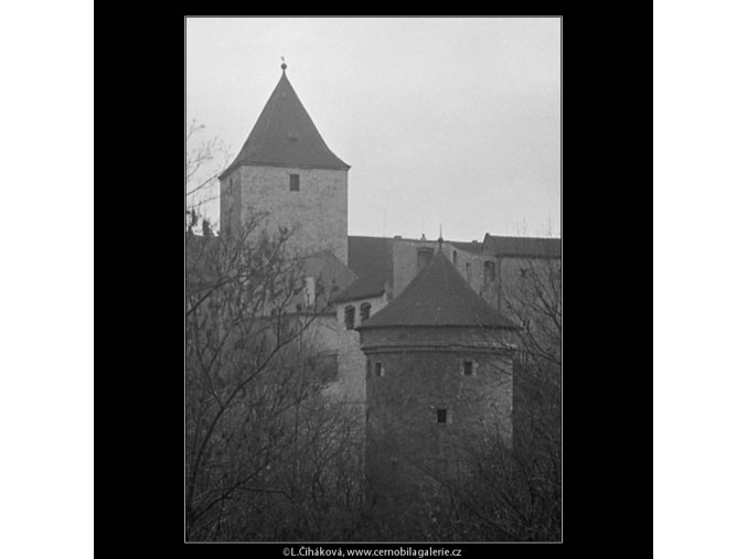 Daliborka a Černá věž (3337-2), Praha 1964 listopad, černobílý obraz, stará fotografie, prodej
