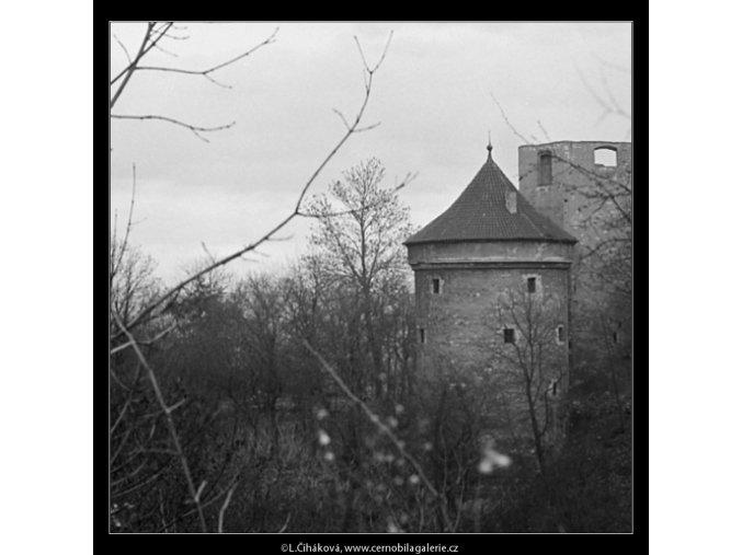 Daliborka a Černá věž (3337-3), Praha 1964 listopad, černobílý obraz, stará fotografie, prodej