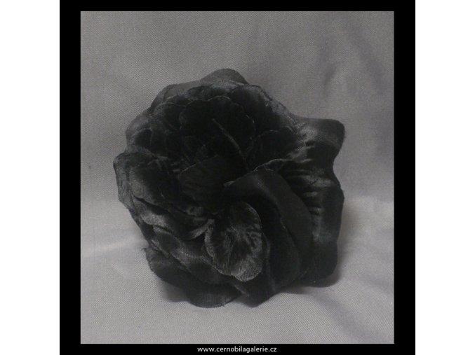 Gumička s růží černá