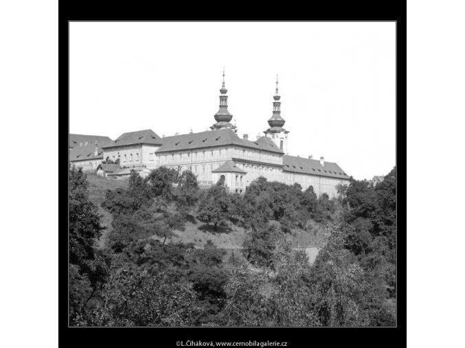 Strahovský klášter (749), Praha 1960 červenec, černobílý obraz, stará fotografie, prodej
