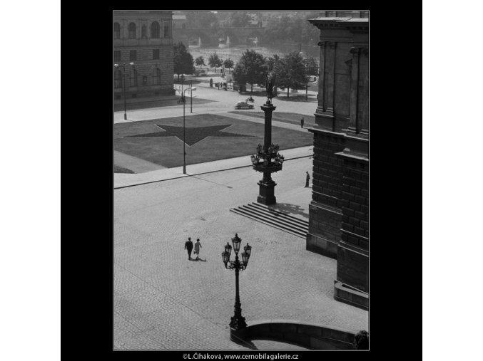 Náměstí u Domu umělců (861-4), Praha 1960 srpen, černobílý obraz, stará fotografie, prodej